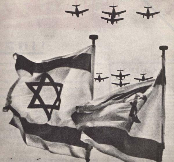 Obr. 3:  Izraelská letadla, která sehrála klíčovou roli v šestidenní válce v roce 1967 ; (zdroj: http://cs.wikipedia.org, www.wordsandwar.com).