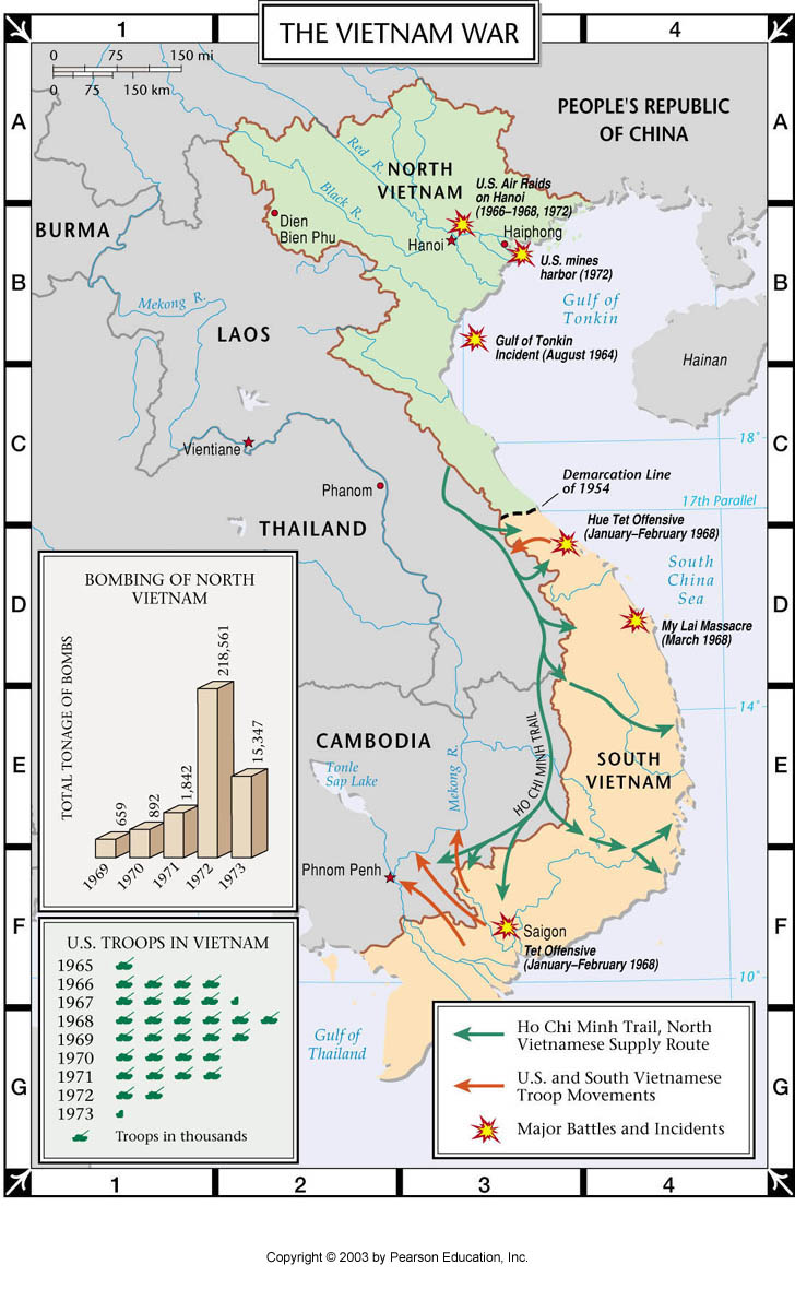 Obr. 2: Vietnamská válka. Zdroj: http://vietnamwar-tmeeks.wikispaces.com/